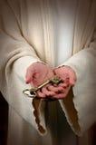 Jesus e a chave dourada Imagens de Stock