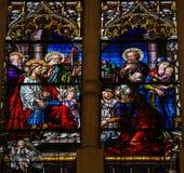 Jesus e crianças fotografia de stock royalty free