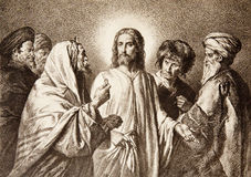 Jesus e o dinheiro Foto de Stock Royalty Free