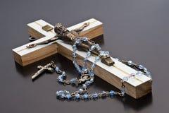 Jesus e rosario Immagini Stock