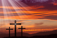 Jesus Easter Cross Image libre de droits