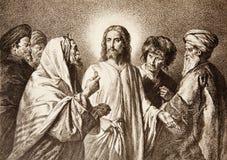 Jesus ed i soldi Fotografia Stock Libera da Diritti