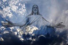 Jesus ed indicatore luminoso Fotografia Stock