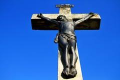 Jesus em uma cruz imagens de stock royalty free