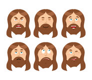 Jesus Emotions. Set expressions Picture of Jesus Christ. Jesus i Royalty Free Stock Images