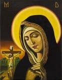 Jesus en biddende vrouw Royalty-vrije Stock Afbeeldingen