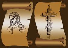 Jesus en kruis Stock Afbeeldingen