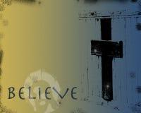 Jesus en Kruis in Grunge Royalty-vrije Stock Afbeelding