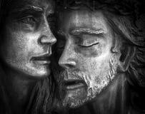 Jesus en Mary stock fotografie