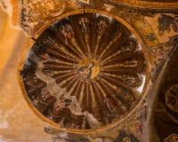 Jesus en Mary Mural binnen Chora-Kerk Stock Foto's