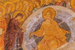 Jesus en Mary Mural in Chora-Kerk Stock Fotografie