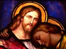 Jesus en vriend Stock Foto