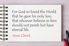 Jesus Is Eternal Life. Eternal Life In Jesus Christ. Holy Bible royalty free stock images