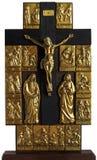 jesus för crucifixion för bibelchrist kors tema Arkivbild
