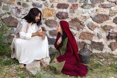 Jesus förlåtande syndare royaltyfri foto