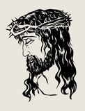 Jesus Face, art vector design. File EPS and JPEG Stock Image