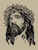 Jesus Face Royalty Free Stock Photo