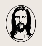 Jesus Face Silhouette Logo, art vector design. Filr EPS and JPEG Royalty Free Stock Photos