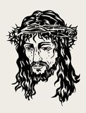 Jesus Face Sketch drawing, art vector design. File EPS and JPEG Royalty Free Stock Photos