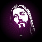 Jesus face. Vector portrait Stock Photography