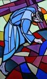 jesus faller andra gång Royaltyfri Fotografi