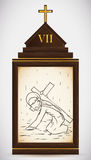 Jesus Falls den andra Gången, vektorillustration Fotografering för Bildbyråer