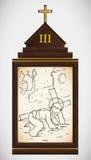 Jesus Falls den första Gången, vektorillustration Royaltyfri Bild
