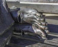 Jesus Feet senza tetto Fotografia Stock Libera da Diritti