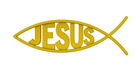 Jesus Symbol - Christ Fish Stock Photo