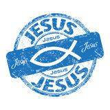 Jesus fish rubber stamp Royalty Free Stock Photo