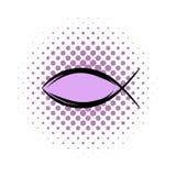 Jesus fish symbol comics icon Royalty Free Stock Images