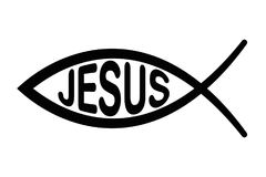 Jesus fish symbol, signo f the fish, Ichthus Royalty Free Stock Images