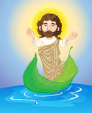 Jesus floating Stock Images