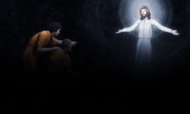 Jesus Forgives Sinners Illustration Stock Photo