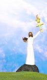 Jesus Freedom From Sins en Duisternis Stock Foto's
