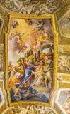 Jesus Fresco Ceiling Santa Maria Maddalena Church Rome Italy Image stock