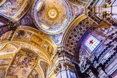 Jesus Fresco Dome Ceiling Santa Maria Maddalena Church Rome Ita. Jesus Fresco Ceiling Dome Santa Maria Maddalena Church Rome Italy. Church named for Saint Mary royalty free stock photos