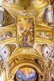 Jesus Fresco Dome Ceiling Santa Maria Maddalena Church Rome Ita. Jesus Fresco Ceiling Dome Santa Maria Maddalena Church Rome Italy. Church named for Saint Mary stock image
