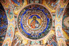 Jesus fresco Rila Monastery Royalty Free Stock Photo