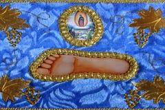 Jesus-Fußikone stockbilder