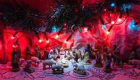 Jesus is geboren decoratie Stock Foto