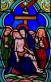 Jesus genommen vom Kreuz stockfotos