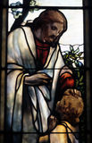 Jesus in glas Royalty-vrije Stock Afbeeldingen