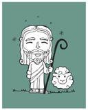 Jesus Good Shepherd b Stock Photography