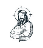 Jesus Good Shepherd g Stock Images