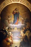 Jesus good shepherd. Church of the Holy Trinity, Paris royalty free stock photos