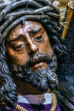 Jesus of the Great Power in Seville, Spain. Image of Christ of the Brotherhood of Jesus of the Great Power, in the Holy Week of Seville, one of the most popular Stock Image