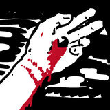 Jesus hand. Illustration of wounded hand of Jesus on the cross Stock Photography