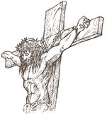 Jesus hand draw Royalty Free Stock Image