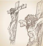 Jesus-Handabgehobener betrag Lizenzfreies Stockfoto